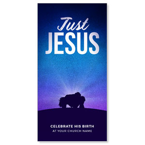 "Just Jesus 11"" x 5.5"" Oversized Postcards"