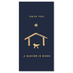 "Simple Gold Manger 11"" x 5.5"" Oversized Postcards"