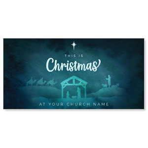 "Teal This Is Christmas 11"" x 5.5"" Oversized Postcards"