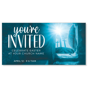 "Blue Tomb English 11"" x 5.5"" Oversized Postcards"