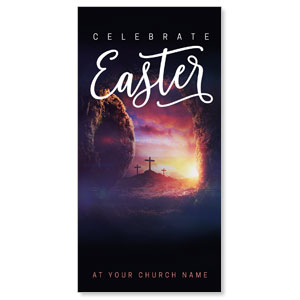 "Dramatic Tomb Easter 11"" x 5.5"" Oversized Postcards"