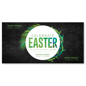 "Easter Palm Crown 11"" x 5.5"" Oversized Postcards"