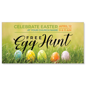 "Free Easter Egg Hunt 11"" x 5.5"" Oversized Postcards"