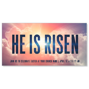 "He Is Risen Bold 11"" x 5.5"" Oversized Postcards"