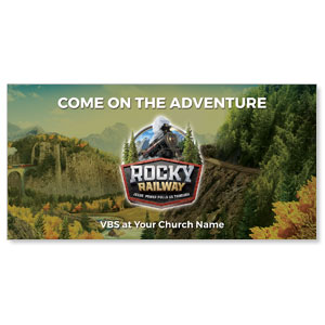 "Rocky Railway 11"" x 5.5"" Oversized Postcards"