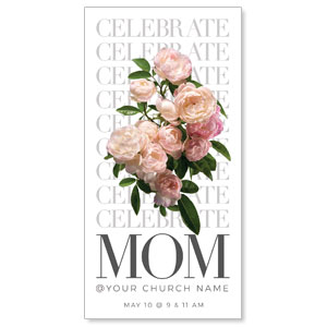 "Celebrate Mom Flowers 11"" x 5.5"" Oversized Postcards"