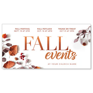 "Fall Events Nature 11"" x 5.5"" Oversized Postcards"