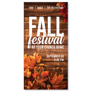 "Rustic Fall Festival 11"" x 5.5"" Oversized Postcards"