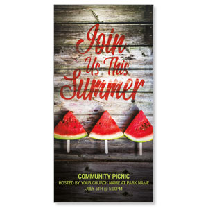 "Summer Watermelon Events 11"" x 5.5"" Oversized Postcards"