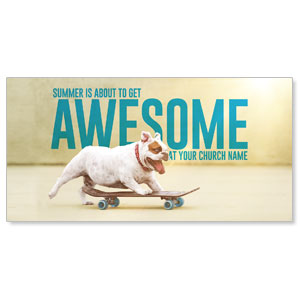 "Awesome Summer Dog 11"" x 5.5"" Oversized Postcards"