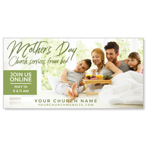 "Online Mother's Day In Bed 11"" x 5.5"" Oversized Postcards"