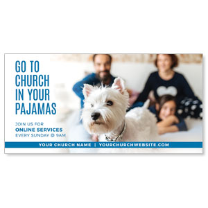 "Church In Pajamas Family 11"" x 5.5"" Oversized Postcards"