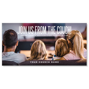 "Join from the Couch 11"" x 5.5"" Oversized Postcards"