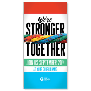 "BTCS Stronger Together 11"" x 5.5"" Oversized Postcards"