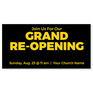 "Black Grand Re-Opening 11"" x 5.5"" Oversized Postcards"