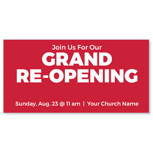 "Red Grand Re-Opening 11"" x 5.5"" Oversized Postcards"