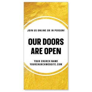 "Gold Dot Doors Are Open 11"" x 5.5"" Oversized Postcards"