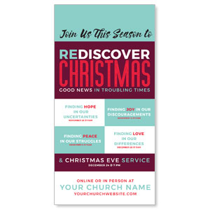 "ReDiscover Christmas Advent Contemporary 11"" x 5.5"" Oversized Postcards"