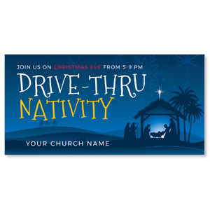 "Drive-Thru Christmas Nativity 11"" x 5.5"" Oversized Postcards"