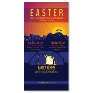 "Easter Sunday Graphic 11"" x 5.5"" Oversized Postcards"
