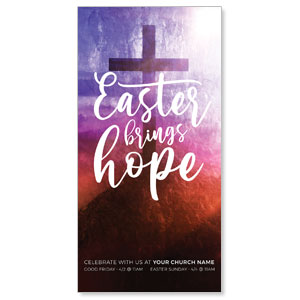 "Easter Brings Hope Cross 11"" x 5.5"" Oversized Postcards"