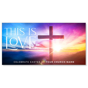 "Love Easter Colors 11"" x 5.5"" Oversized Postcards"