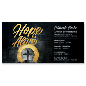 "Hope Is Alive Gold 11"" x 5.5"" Oversized Postcards"