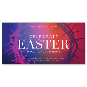 "Celebrate Easter Crown 11"" x 5.5"" Oversized Postcards"