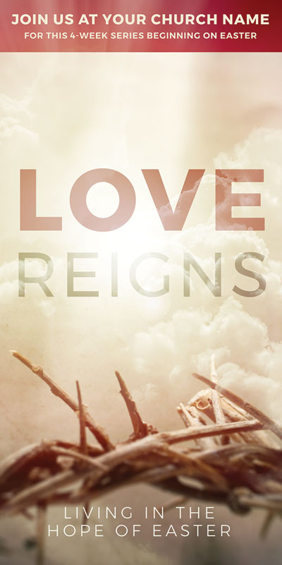 Church Postcards, Easter, Love Reigns, 5.5 x 11