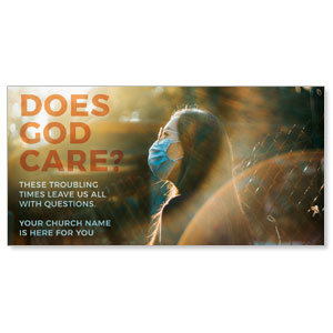 "Does God Care Mask 11"" x 5.5"" Oversized Postcards"