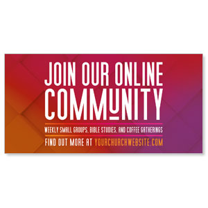 "Join Our Community Gradient 11"" x 5.5"" Oversized Postcards"