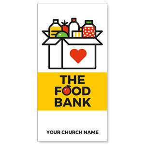 "Food Bank Retro 11"" x 5.5"" Oversized Postcards"