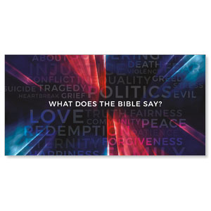 "What Does The Bible Say 11"" x 5.5"" Oversized Postcards"