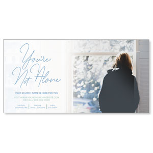 "You Are Not Alone Window 11"" x 5.5"" Oversized Postcards"