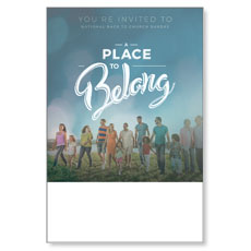 Back to Church Sunday: A Place to Belong Poster