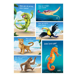 Shipwrecked Signs Bible Point Posters, pack of 6 Posters