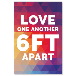Geometric Bold Love One Another Posters