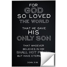Chalk Jn 3:16 Wall Art