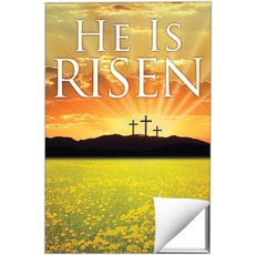 He is Risen Triptych M Wall Art