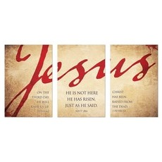 Jesus Triptych Wall Art