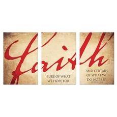 Faith Triptych Wall Art