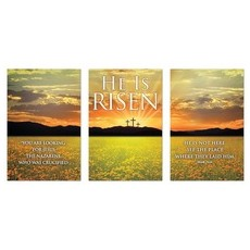 He is Risen Triptych Wall Art