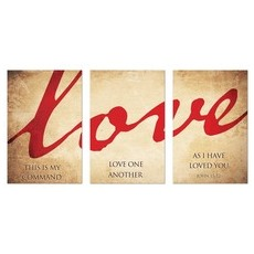 Love Triptych Wall Art