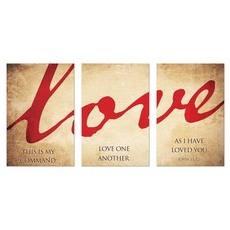 Love Triptych Wall Art