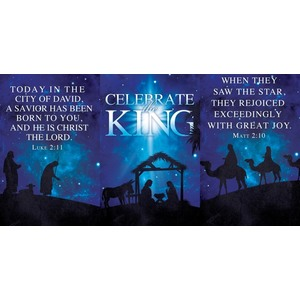 Celebrate the King Triptych 24 x 36 Quick Change Art