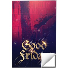 Good Friday Red Crucifixion Wall Art