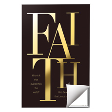 Gold Letters Faith Wall Art