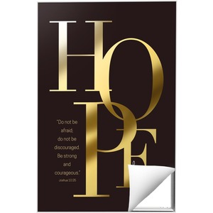 Gold Letters Hope 24 x 36 Quick Change Art