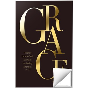 Gold Letters Grace Wall Art