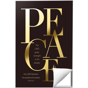 Gold Letters Peace Wall Art